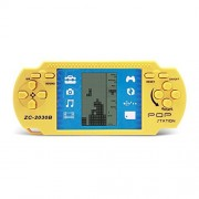 JXD Yellow Retro Portable Tetris Handheld Tetris Kids Electronic Brick GamesToys