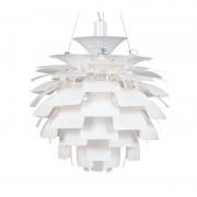 Lámpara artic 70 cms de diámetro fabricada en aluminio de color blan