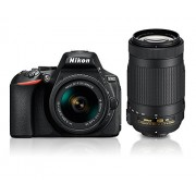 Nikon D5600 with AF-P 18-55mm + AF-P 70-300mm VR Kit With Bag and 8GB memory card free