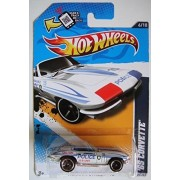 Hot Wheel Hw Main Street 12 White 65 Corvette (Police K 9 Unit) 6/10