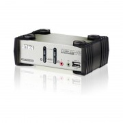 Aten KVM Switch mit USB Hub, USB + Audio, 2-fach
