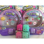 Shopkins Season 5 (Set of 4) 2 Non Matching S5 5 Packs and 2 S5 2 Pack Backpacks. You'll have 2 each: Purple Bunny Pink Cat Teal Dog Backpacks Bracelets and more!