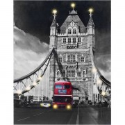 Cuadro Tower Bridge con Luz Led en Tela de Lino 60 x 80