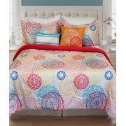 4-Piece Reversible Comforter Set Daria