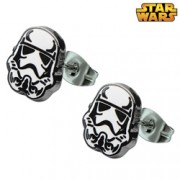 Star Wars Stainless Steel Stormtrooper Stud Earrings