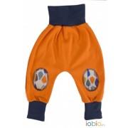 Pantaloni din bumbac organic - Iobio - Orange Melange, 74/80