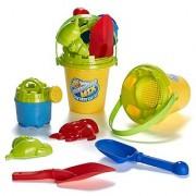Summer Fun 6 Piece ChildrenS KidS Mini Toy Beach/Sandbox Tool Play Set Comes With Watering Bucket Hand Tools Sand Mol