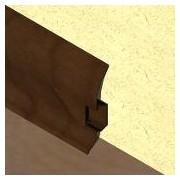 PBC605 - Plinta LINECO din PVC culoare stejar maroniu pentru parchet - 60 mm
