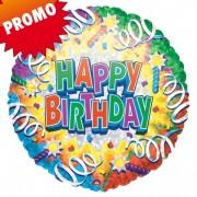 Balon folie 45 cm Happy Birthday Explosion