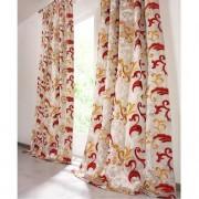 """Vorhang """"Silana"""", 1 Vorhang, 127 x 245 cm - Creme/Rot/Gold"""