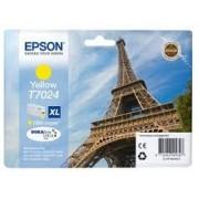 Epson T7024 Patron yellow 2,4K (Eredeti) WorkForce Pro 4015, 4095, 4525 nyomtatókhoz, EPSON yellow, 45,2 ml