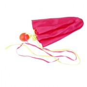 Imported 65cm Tangle-Free Mini Parachute Sky Flying Kid Outdoor Funny Toy Rose Red