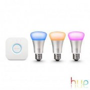 Philips Hue White and Color 3-er Starter Set, E27, 10 W 46153200, EEK: A+