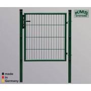 KMS DSM Tor EASY-B-EASY, Rundrohr, 1000 x 1000, verzinkt/grün 6005