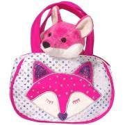 Shimmering Fox Sassy Pet Sak Tote with Pink Fox Plush Toy by Douglas Cuddle Toys