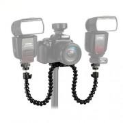 CowboyStudio Flexible Octopus Dual-arm Dual-shoe Flash Bracket Holder Mount for Macro Shot