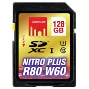 Strontium Nitro Plus 128GB UHS-I Class 3 SDXC Card (SRP128GSDU1)