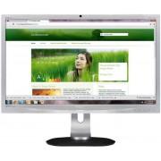 "Monitor LED Philips 24"" 241P4QRYES/00, Full HD, DVI-D (Argintiu)"