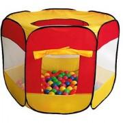 100-Pit-Ball Play Tent Popup Hexagon Mesh Kids House Twist Pool