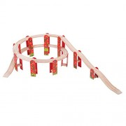 Bigjigs Rail High Level Track Expansion Pack for Train Set
