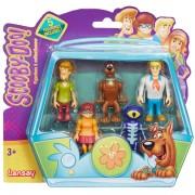 Set 5 figurine Scooby Doo 7 cm: Velma, Scooby Doo, Shaggy, Fred, Skeleton Man