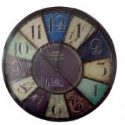 Ceas de perete metalic vintage cu cifre romane - Paris