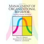 Management of Organizational Behavior by Paul H. Hersey