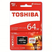 Toshiba Exceria M302 64GB Micro SDXC Memory Card 90 MB/s 4K - Recommended for Action Cameras, GoPRO Hero 4 & Hero 5