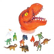 Dinosaur T-Tex Tyrannosaurus Rex Head Action Figure Carrying Case With 24 Dinos