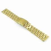 StrapsCo Yellow Gold Tone Stainless Steel Watch Band in size 20mm