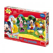 PUZZLE 4 IN 1 - CLUBUL LUI MICKEY MOUSE (54 PIESE) (333079)