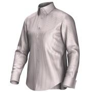 Maatoverhemd wit/rood 54380