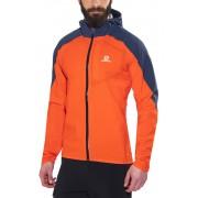 Salomon Bonatti WP Jacket Men vivid orange/big blue-x 2016 XL Laufjacken