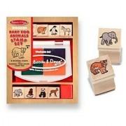 Melissa and Doug Baby Zoo Animals Stamp Set