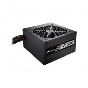 Fuente De Poder Corsair VS600 De 600W, ATX, 80 PLUS Certified. CP-9020119-NA