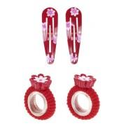 Souza for Kids - 2478 - Gioielli e Cosmesi - Clip di capelli elastico Abby - Fiore Rosso
