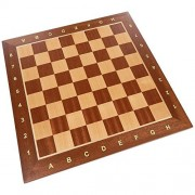 Requa Chess Board With Inlaid Wood And Ranks And Files (Numbers And Letters On Side) Board Only 15 Inch