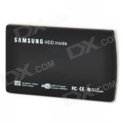 """Portable 2.5 """"USB 2.0 SATA HDD Enclosure w / Cable USB - Noir"""