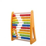 TookyToy Rainbow Abacus Wooden Counting Bead - Classic Math Educational Counting Toys with 100 Beads