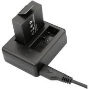 Magideal Portable Dual USB Slot Battery Charger for SJCAM SJ4000 SJ5000 Sports Camera