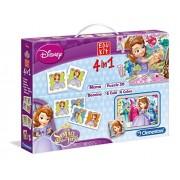Princesa Sofía - Edu kit 4 en 1: domino, memo, puzzle y rompecabeza (Clementoni 13437)