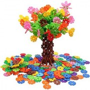 VIAHART Brain Flakes 500 Piece Interlocking Plastic Disc Set A Creative and Educational Alternative to Lego Building Blo