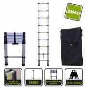Silex France ® Echelle télescopique 2M60 Silex® + housse de transport