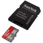 Card Sandisk Ultra microSDHC 48Mbs UHS-I 8GB Class 10 cu adaptor SD