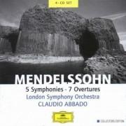 Claudio Abbado, London Symphony Orchestra - Mendelssohn: 5 Symphonies; 7 Overtures (0028947146728) (4 CD)