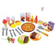 34 Piece Play Food Assortment Dessert Play Food Toy Foods F