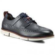 Clarks Półbuty CLARKS - Trigen Limit 261142147 Navy Leather