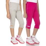 OCEAN RACE Womens Stylish attarctive colors Cotton Capris(3/4 th Pant)-Pack of 2