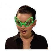 Plastic ALIEN EYES Green Novelty Glasses