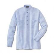 Hollington Panama-Leinen-Hemd, 47/48 cm - Hellblau